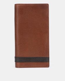 2e613246e Fossil Quinn Executive Brown Leather Executive Wallet