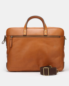 Fossil Haskell Leather Workbag Tan