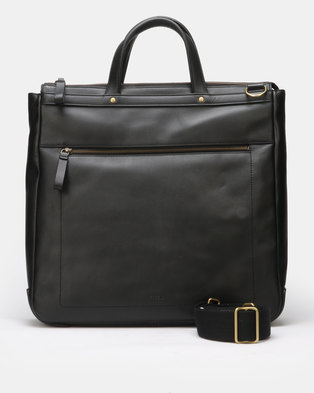 Fossil Haskell Leather Workbag Black