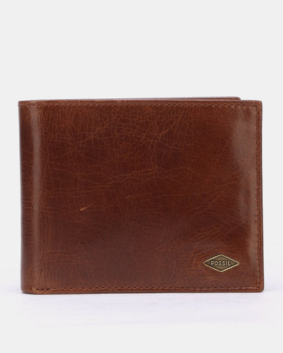 finest selection 98f0f 86ab0 Fossil Elgin Leather Id Card case Wallet Brown | Zando