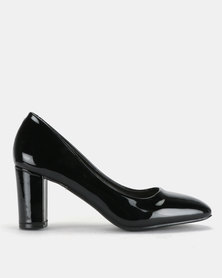 Staccato Court Heels Black