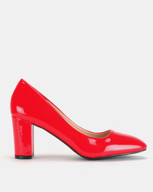 Staccato Court Heels Red