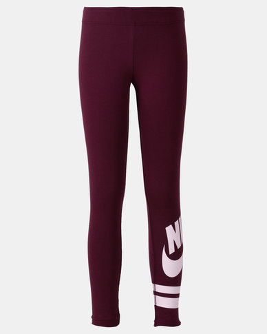 presenting fashion select for newest Nike G NSW Leggings Favorite GX3 Red-Purple