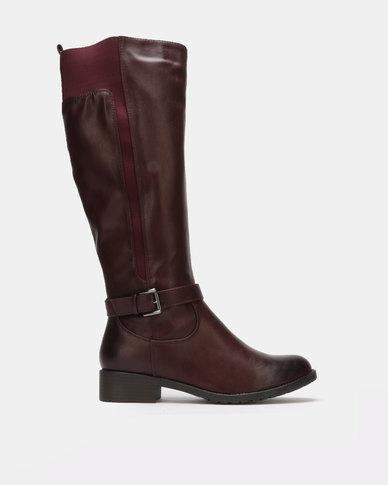 Franco Ceccato Long Boot Burgundy