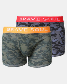 Brave Soul 2 Pack Camo Bodyshirt Multi