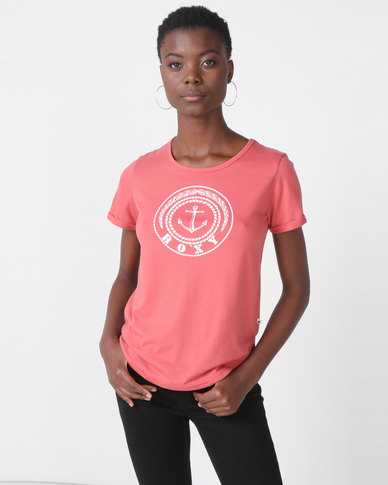 Roxy Love Sun Tee Red