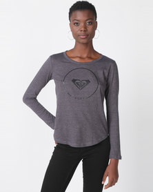 Roxy Love Sun Longsleeve Tee Grey