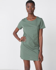 Roxy Love Sun Tee Dress Green