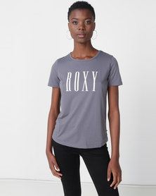 Roxy Red Sunset Essential Short Sleeve Tee Grey