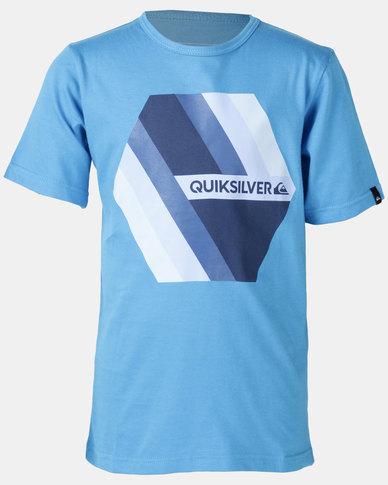 99ada0f123 Quiksilver Retro Right Boy T-shirt Blue