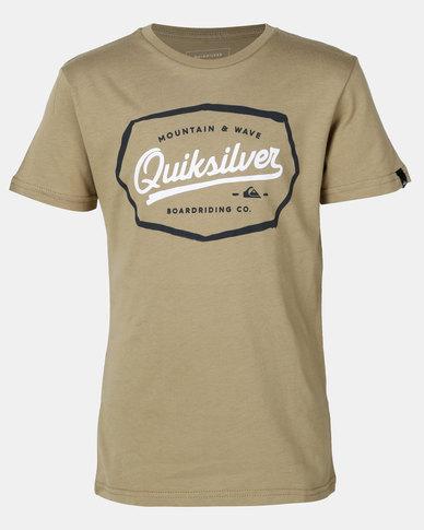 Quiksilver Live On The Edge Boy T-shirt Khaki