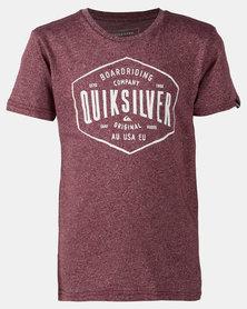 Quiksilver Cut Back Boy T-shirt Red