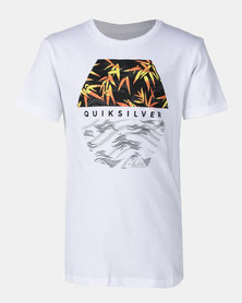 Quiksilver Bamboo Breakfast Boy Tee White