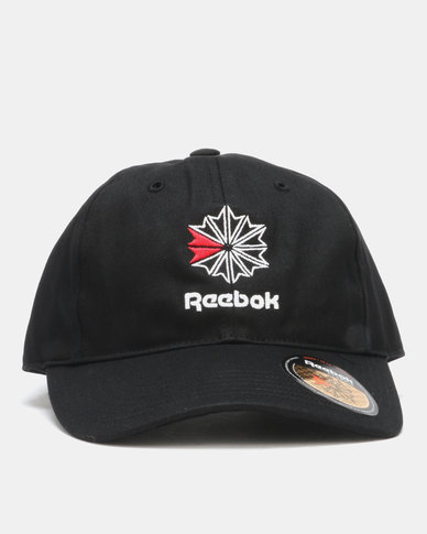 81dd8042a9e5bb Reebok CL FO Starcrest Cap Black | Zando
