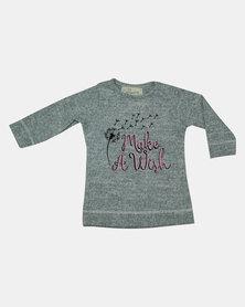 Razberry Baby Printed Long Sleeved T-Shirt Grey