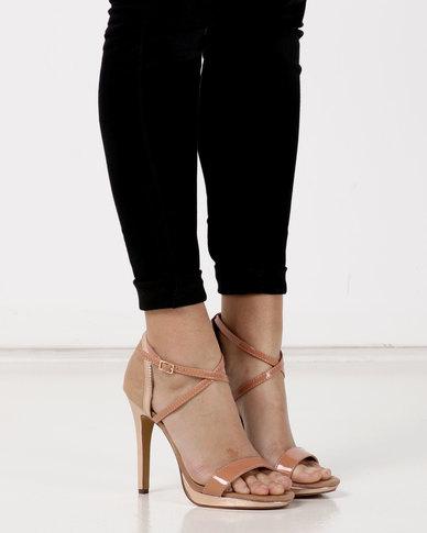Legit Ankle Strap Cross Taupe Sandals Over Platform Colourblock Yvfyb6gI7