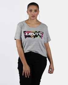 Plus Size Perfect Logo Tee Grey