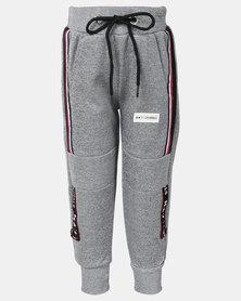 K-Star 7 Max Boys Fleece Trackpants Grey