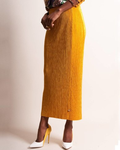 Marique Yssel Cylinder Skirt - Dijon