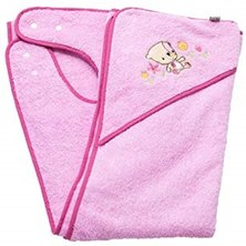 Clevamama Splash & Wrap Baby Bath Towel Pink