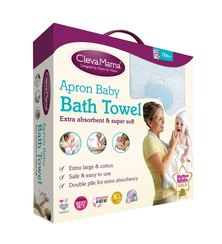 Clevamama Splash & Wrap Baby Bath Towel Blue