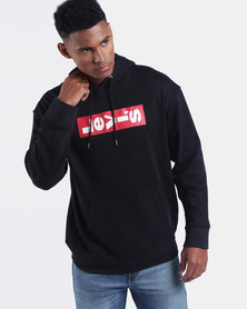 Relaxed Graphic Hoodie Black