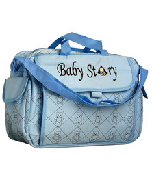 Waterproof Built in changing station nappy bag- Blue