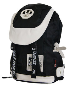 22L Fino  Wolf Horse Laptop Backpack - Black & White