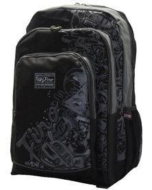 Fino Graffiti Backpack - Black & Grey