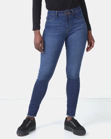 Legit Fray Hem Skinny Jeans Ink