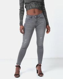 Legit Push-Up Skinny Jeans Charcoal