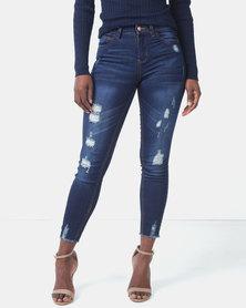 Legit Highwaist  Braised Skinny Jeans Ink
