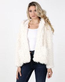 Legit Teddy Fur Coat Cream
