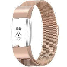 Buyitall.today Milanese Loop for Fitbit Charge 2 Rose Gold