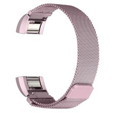 Buyitall.today Milanese Loop for Fitbit Charge 2 Pink