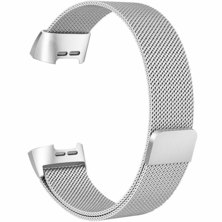 Buyitall.today Milanese Loop for Fitbit Charge 3 Silver