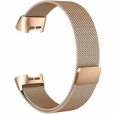 Buyitall.today Milanese Loop for Fitbit Charge 3 Rose Gold