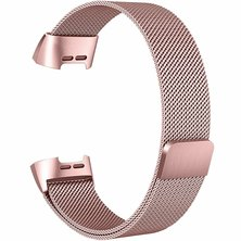Buyitall.today Milanese Loop for Fitbit Charge 3 Pink