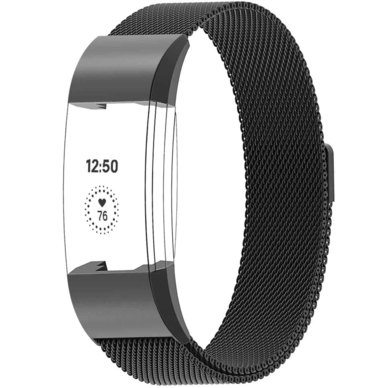 Buyitall.today Milanese Loop for Fitbit Charge 2 Black