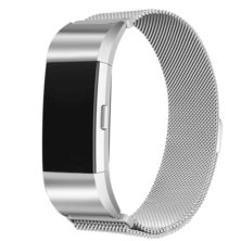 Buyitall.today Milanese Loop for Fitbit Charge 2 Silver