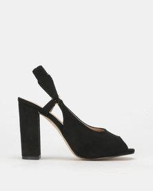 PLUM Slingback Heel Black