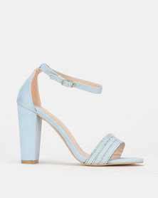 PLUM Block Heel Baby Blue