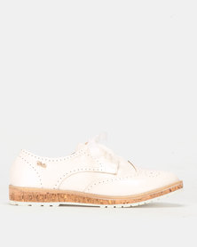 PLUM Lace Up Shoe White