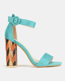 PLUM Block Heel Sea Green