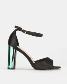 PLUM Block Heel Sandal Black