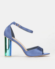PLUM Block Heel Sandal Midnight Blue
