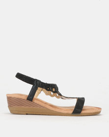 PLUM Wedge Sandal Black