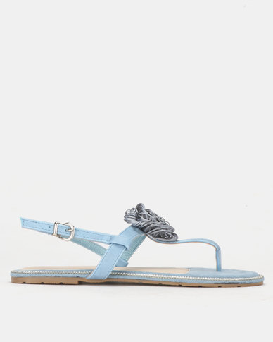 PLUM Ankle Strap Sandal Blue