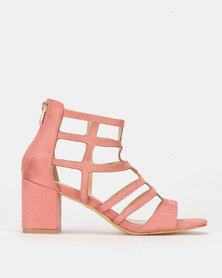 PLUM Jackal Heel Sandal Dusty Pink