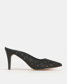 PLUM Slip On Heel Black